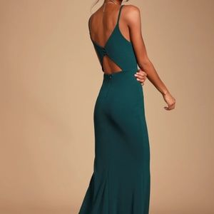 Moments Of Bliss Forest Green Backless Mermaid Max